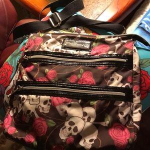 Betsey Johnson Skull & Roses Crossbody Bag